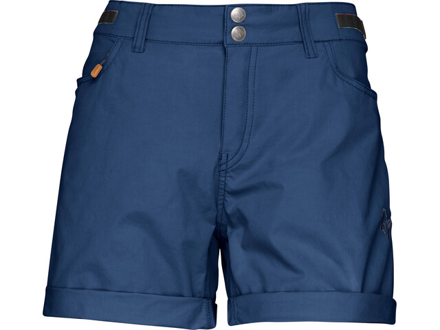 Norrøna W's Svalbard Light Cotton Shorts Indigo Night